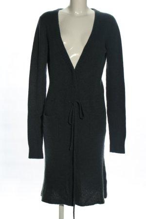 Dear Cashmere Manteau en tricot noir style décontracté