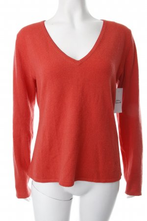 Dear Cashmere Knitted Sweater bright red casual look