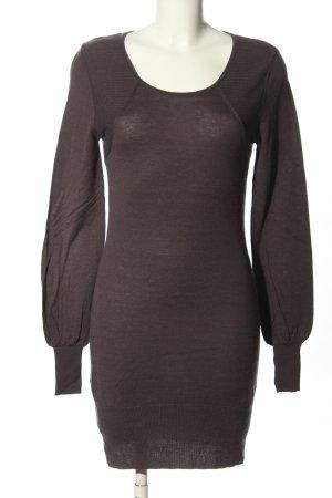 Dear Cashmere Woolen Dress brown flecked casual look