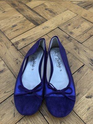 Debbie Katz Slingback Ballerinas dark violet