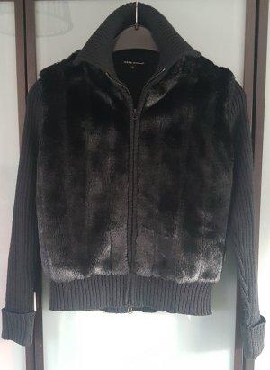 Debbie Morgan Smanicato di pelliccia nero