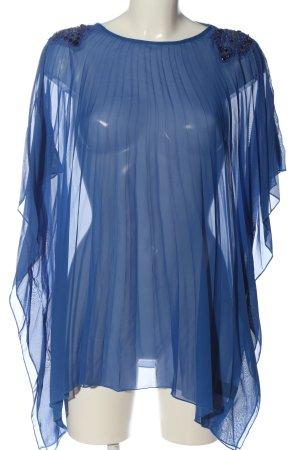 debbie shuchat Transparenz-Bluse blau Casual-Look