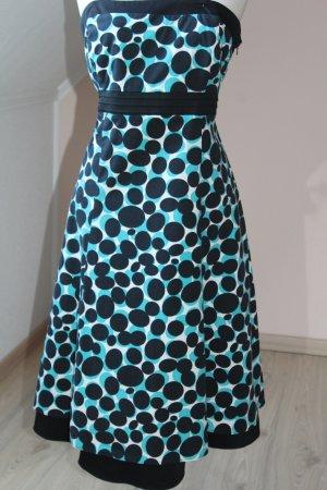 Debenhams Kleid Midi Sommer Punkte Gr. 42 44 Baumwolle Schleife Trägerkleid Lagenlook