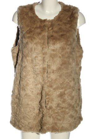 Debenhams Gilet en fausse fourrure brun moucheté style décontracté