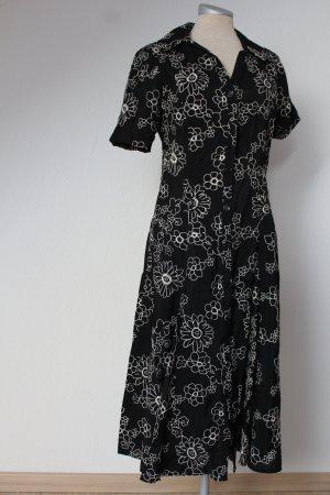 Debenhams Sommerkleid neu Gr. 40 schwarz Blumenstickerei