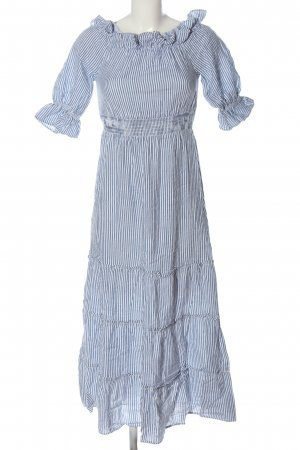 Debiflue x NA-KD Shortsleeve Dress blue-white allover print elegant