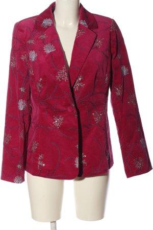 debra mcguire Short Blazer pink allover print elegant
