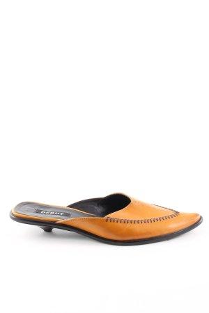 debut Zuecos naranja claro look Street-Style