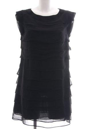 Deby Debo Blusenkleid schwarz Streifenmuster Casual-Look
