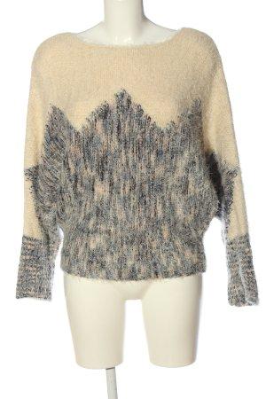 Deby Debo Szydełkowany sweter w kolorze białej wełny-jasnoszary Melanżowy
