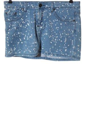 Deby Debo Denim Skirt blue-white allover print casual look