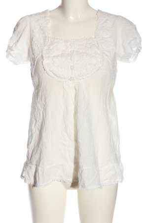 Deby Debo Short Sleeved Blouse white casual look