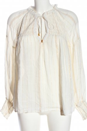 Deby Debo Long Sleeve Blouse white-gold-colored striped pattern business style