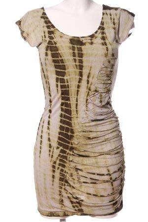 Deby Debo Minikleid wollweiß-braun abstraktes Muster Casual-Look