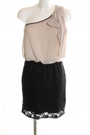 Deby Debo One-Shoulder-Kleid schwarz-wollweiß Business-Look