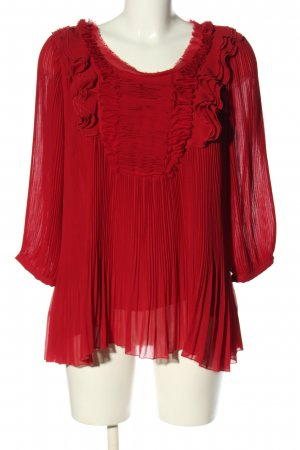 Deby Debo Slip-over Blouse red business style