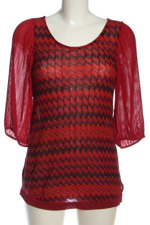Deby Debo Slip-over Blouse red-black allover print casual look