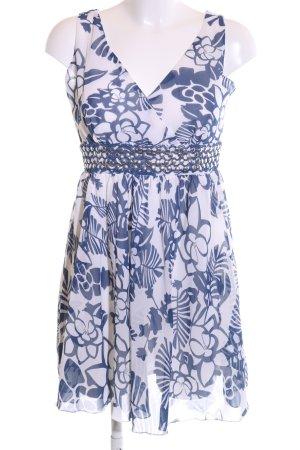 Deby Debo Trägerkleid weiß-blau Blumenmuster Casual-Look