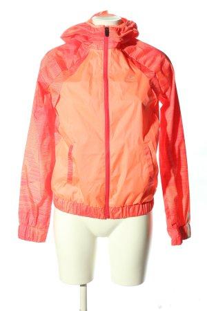 Decathlon Impermeabile rosa-arancione chiaro motivo a righe stile casual