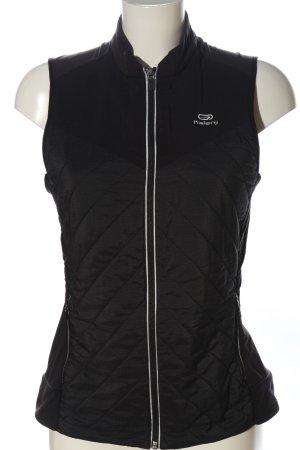Decathlon Gilet de sport noir motif de courtepointe style décontracté