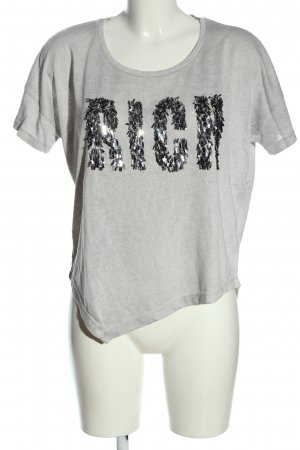 decay Print Shirt light grey-silver-colored printed lettering casual look