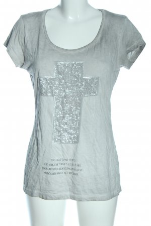 decay T-Shirt light grey flecked casual look
