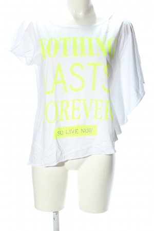 decay T-Shirt white-primrose printed lettering casual look