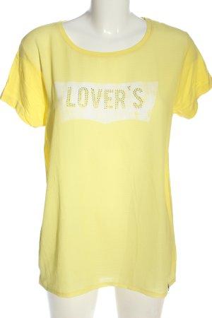 decay T-Shirt primrose printed lettering casual look