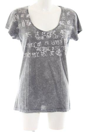 Decay Women Shirt met print lichtgrijs-wit volledige print casual uitstraling