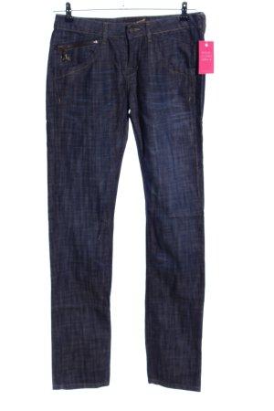 DeCON Straight-Leg Jeans blau meliert Casual-Look