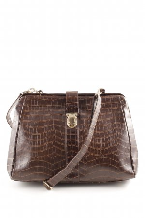 Deena & Ozzy Carry Bag brown animal pattern business style