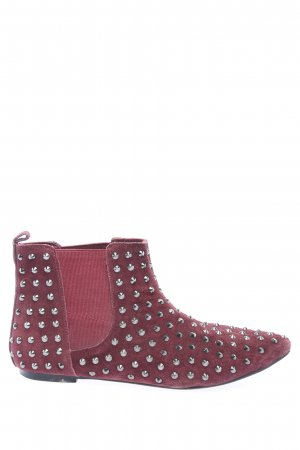 Deena & Ozzy Slip-on Booties red-silver-colored casual look