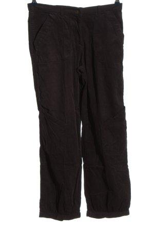 Deerberg Spodnie sztruksowe czarny W stylu casual