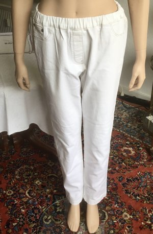 Deerberg Stretch Trousers white cotton
