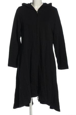 Deerberg Hooded Dress black casual look