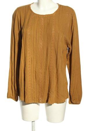 Deerberg Long Sleeve Blouse light orange casual look