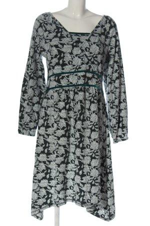 Deerberg Longsleeve Dress black-white allover print casual look