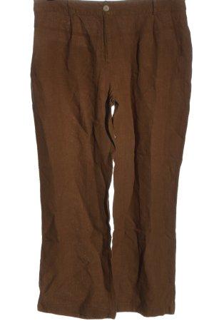 Deerberg Pantalón de lino marrón look casual