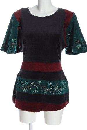 Deerberg Camicia lunga blu-verde motivo floreale stile casual