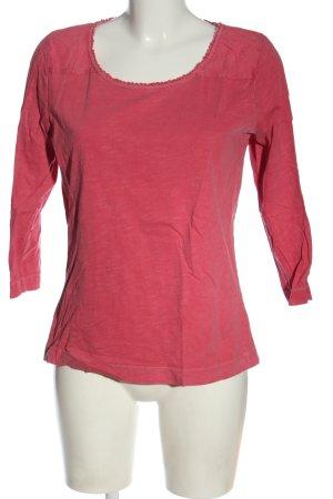 Deerberg Longsleeve pink flecked casual look