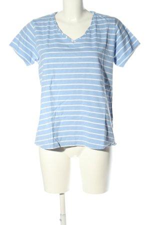 Deerberg Ringelshirt blau-weiß Allover-Druck Casual-Look