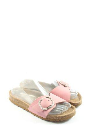Deerberg Sabots pink-cream casual look
