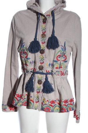 Deerberg Giacca-camicia caratteri ricamati stile casual