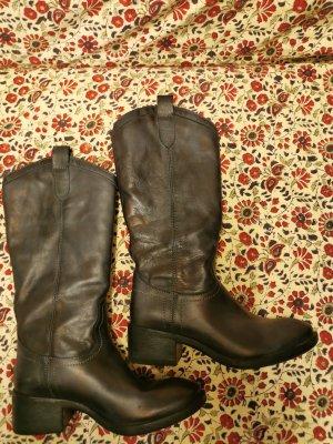 Deerberg Stiefel im Cowboys Style Gr. 39 dunkelgrau