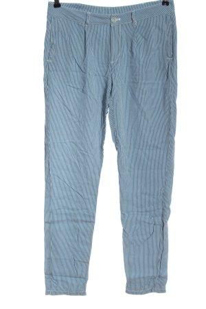 Deerberg Jersey Pants blue-white allover print casual look