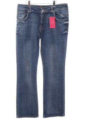 Deerberg Straight-Leg Jeans blau Casual-Look