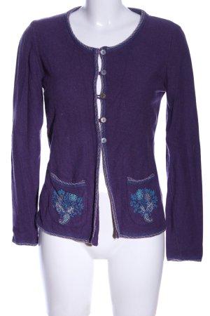 Deerberg Knitted Cardigan lilac casual look