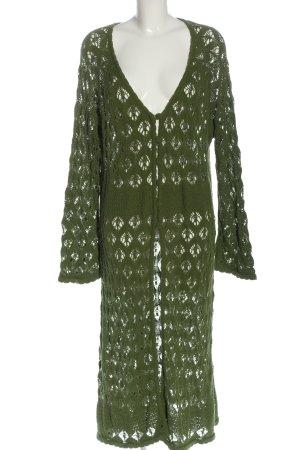 Deerberg Knitted Coat green casual look