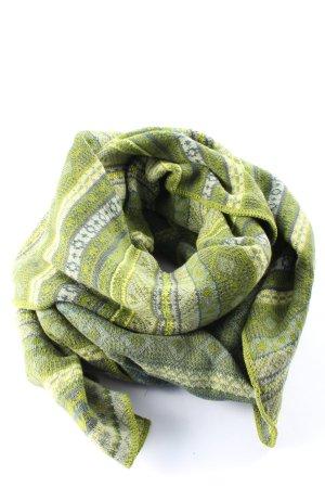 Deerberg Knitted Scarf green-primrose allover print casual look