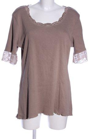 Deerberg T-Shirt braun Casual-Look